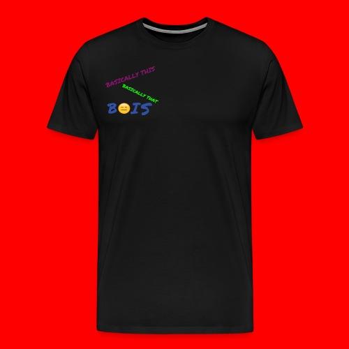 BASICALLY THIS BASICALLY THAT ZEPPLIN Design - Men's Premium T-Shirt