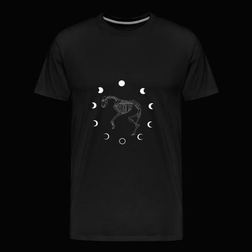 Lebenskreis Mondphasen Weiß - Männer Premium T-Shirt