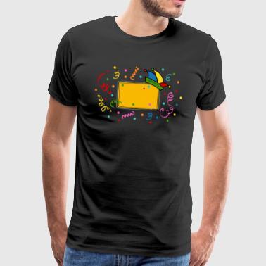 Ortsschild Fasching Fastnacht Karneval - Männer Premium T-Shirt