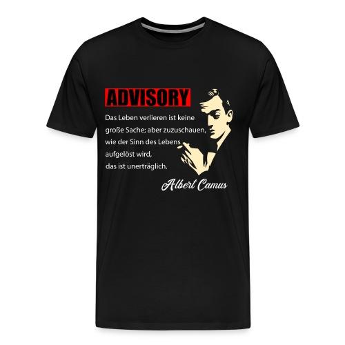 Philosophie Alber Camus - Das Leben verlieren - Männer Premium T-Shirt