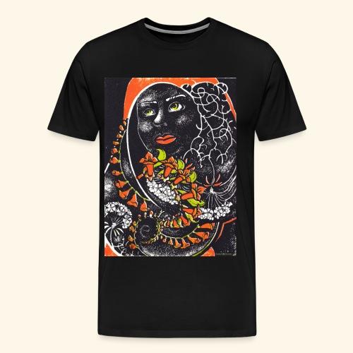 Musta madonna - Miesten premium t-paita