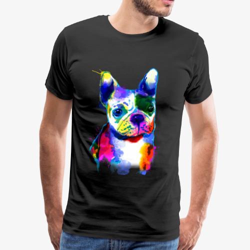 Französische Bulldogge I Der bunte Hund - Männer Premium T-Shirt