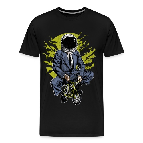 ZUM MOND FAHREN - Astronauten Radfahrer Geschenk - Männer Premium T-Shirt