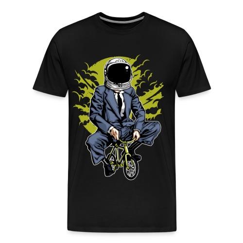 MOND RADLER - Kosmonauten Radfahrer Geschenk Shirt - Männer Premium T-Shirt