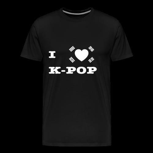 I Love KPop KDrama Seoul Korea Namsan Herz - Männer Premium T-Shirt
