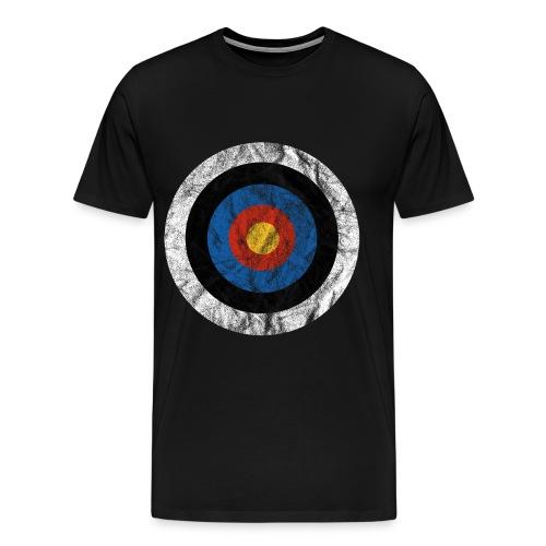 T-Shirt Bullseye Ziel Pfeil Bogen Archery Dart - Männer Premium T-Shirt