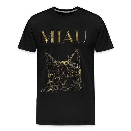Katze Miau Gold - Männer Premium T-Shirt