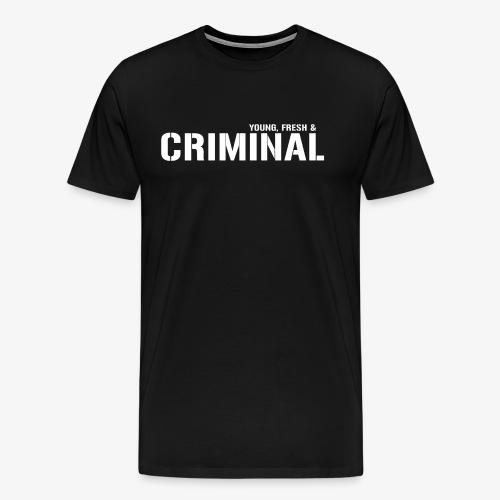 Y F CRIMINAL Logo White - Männer Premium T-Shirt