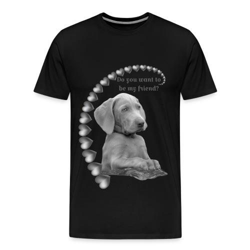 Möchtest du mein Freund sein silber - Männer Premium T-Shirt