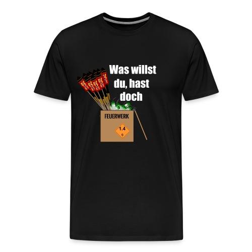 Feuerwerk haben - Männer Premium T-Shirt