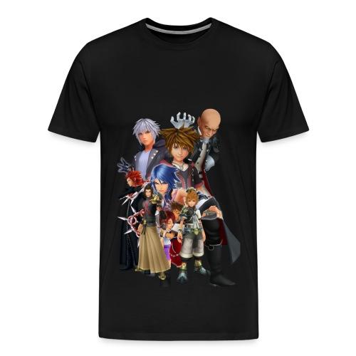 Kingdom Hearts Design (WjkoenhdindustrieS) - Men's Premium T-Shirt