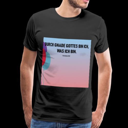 durch gottes gnade - Männer Premium T-Shirt