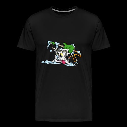 Wicked Washing Machine Wasmachine - Mannen Premium T-shirt