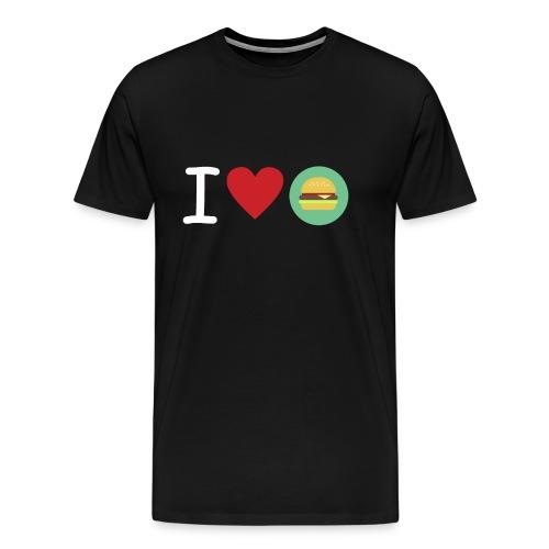 Amor de hamburguesa - Camiseta premium hombre