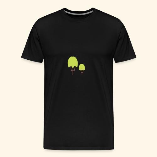 Thick Happy Tree Color - Männer Premium T-Shirt