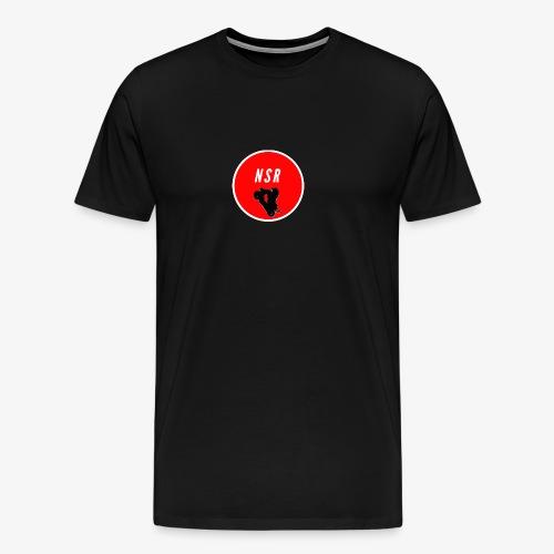 NSR loggo - Premium-T-shirt herr