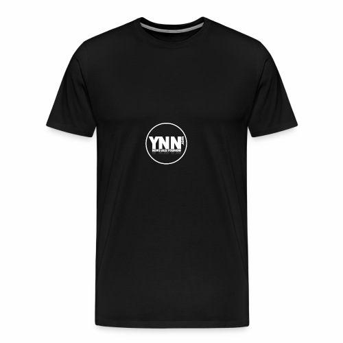 Banner-Rund-Weiß - Männer Premium T-Shirt