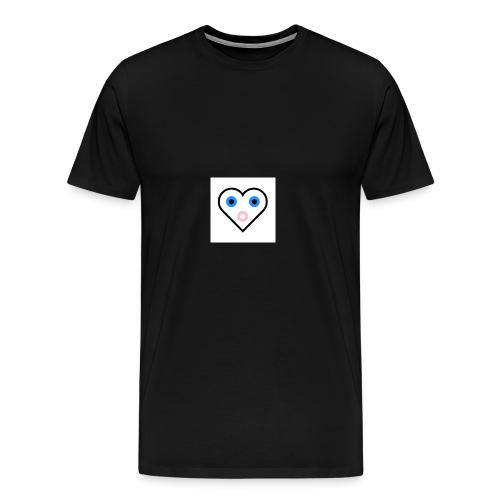 Un cœur qui cherche à exprimer sa joie. - T-shirt Premium Homme