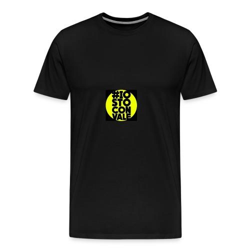 #IO STO CON VALE - Maglietta Premium da uomo