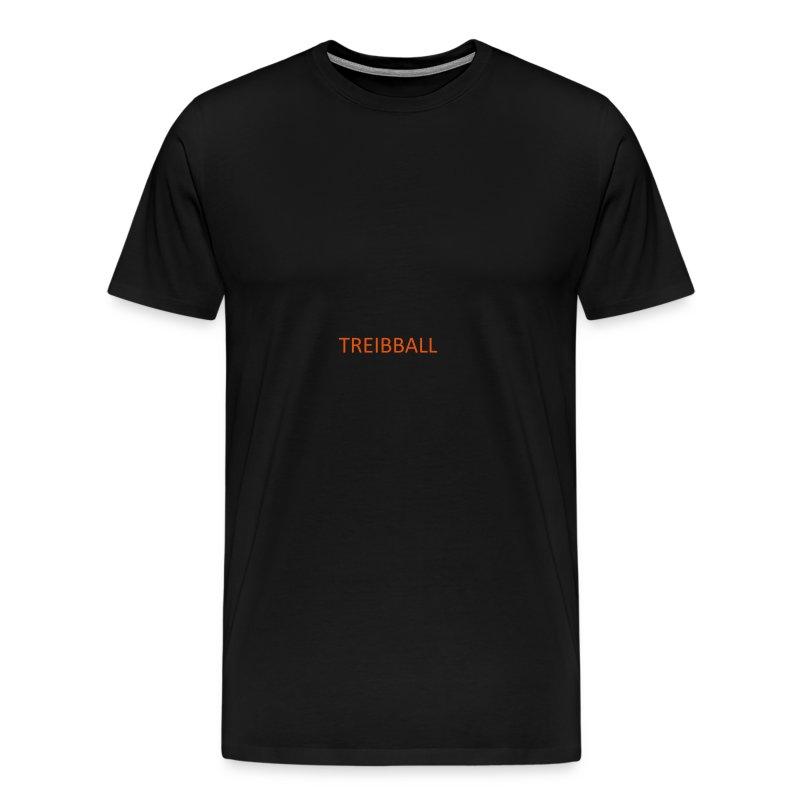 Treibball-Schlüsselband mit orangem Schriftzug - Männer Premium T-Shirt