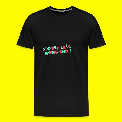 SnapShirt c'est le week-end - T-shirt Premium Homme