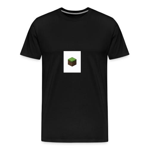 grass block minecraft - Mannen Premium T-shirt