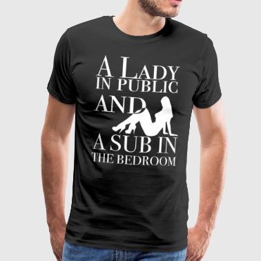 Une dame en public et un sous dans la chambre - T-shirt Premium Homme