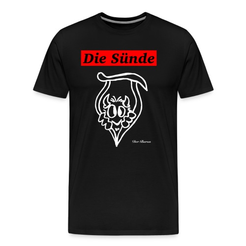 Loge DIE SÜNDE designed by antonia - Männer Premium T-Shirt