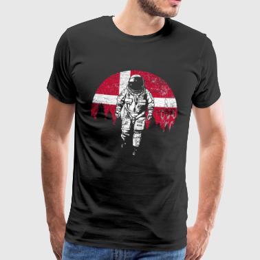 Astronautti Moon Tanska lippu lahja - Miesten premium t-paita