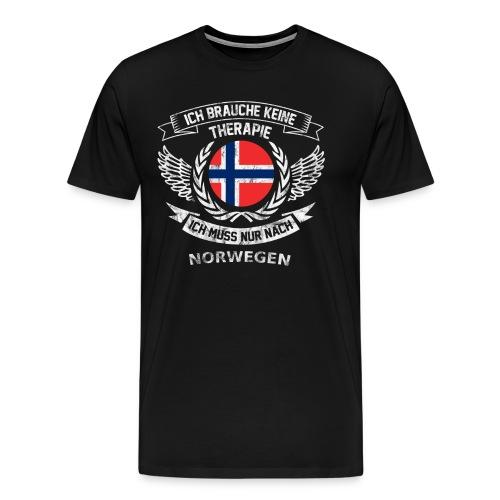 norwegen therapie t shirt retro dfd - Männer Premium T-Shirt