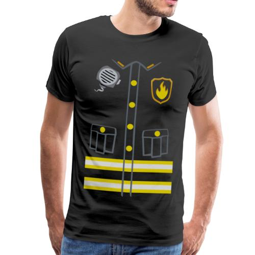 Fireman Costume - Dark edition - Men's Premium T-Shirt
