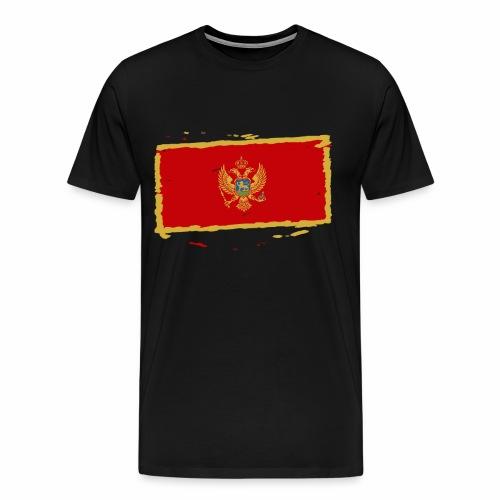 Црна Гора застава - Crna Gora zastava - Montenegro - Männer Premium T-Shirt