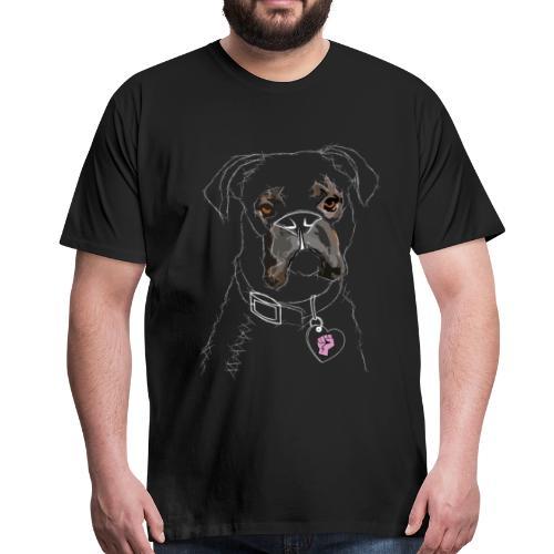 Der Hund (weiß) - Männer Premium T-Shirt