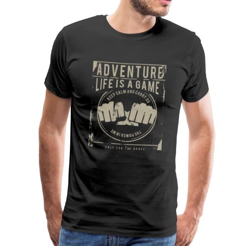 Life Is A Game - Men's Premium T-Shirt