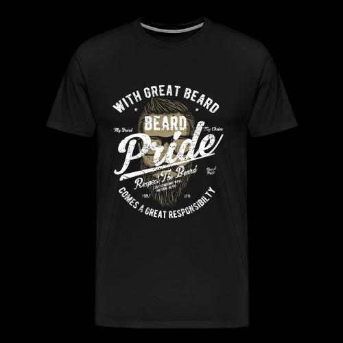 Beard Pride - Stolzer Bartträger - Männer Premium T-Shirt