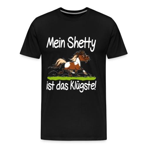 Mein Shetty das Klugste (Text weiss - T-shirt Premium Homme