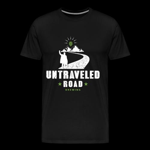 Untraveled Road Logo - weiß - Männer Premium T-Shirt