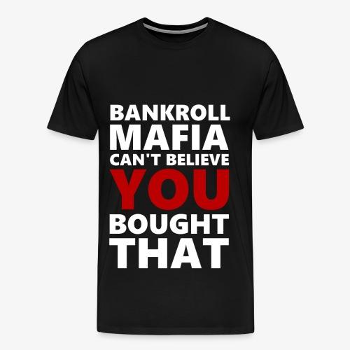 BANKROLLWHITERED - Maglietta Premium da uomo