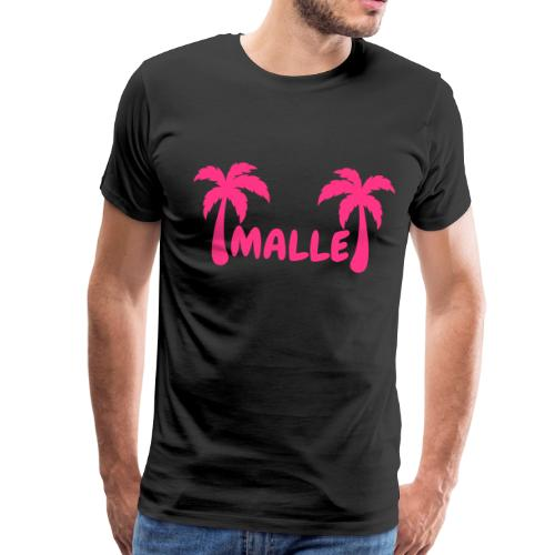 Malle - Schriftzug mit zwei Palmen - Männer Premium T-Shirt