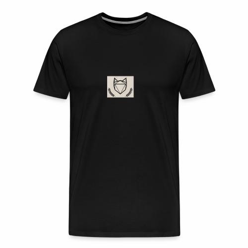 Fuchs mit Kranz und Hintergrund - Männer Premium T-Shirt