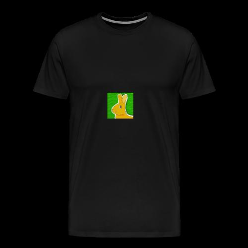 Konijn met groene achtergrond - Mannen Premium T-shirt