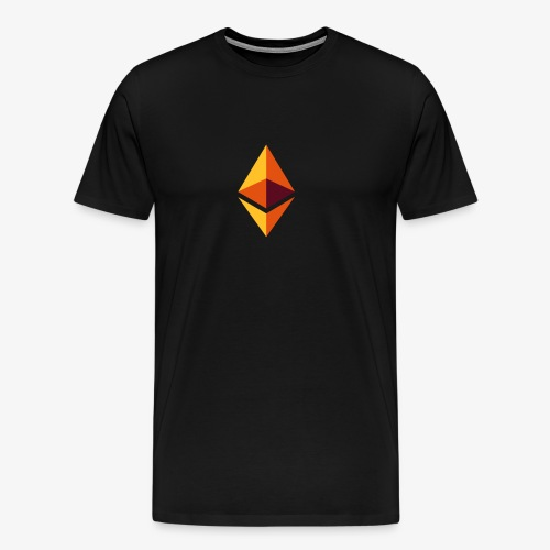 Ethereum Logo (Orange) - Männer Premium T-Shirt