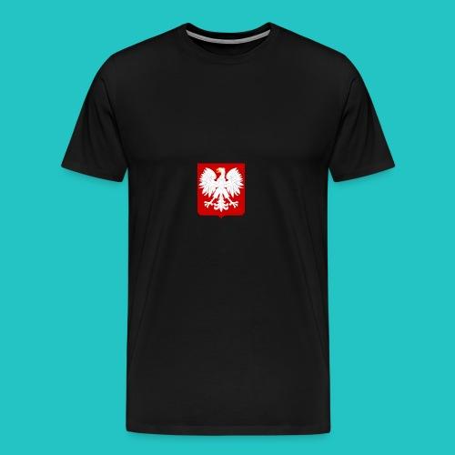 Koszulka z godłem Polski - Koszulka męska Premium