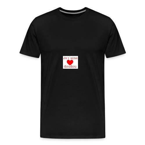 je t aime love doudou - T-shirt Premium Homme