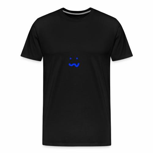 Blauer Smiley - Männer Premium T-Shirt
