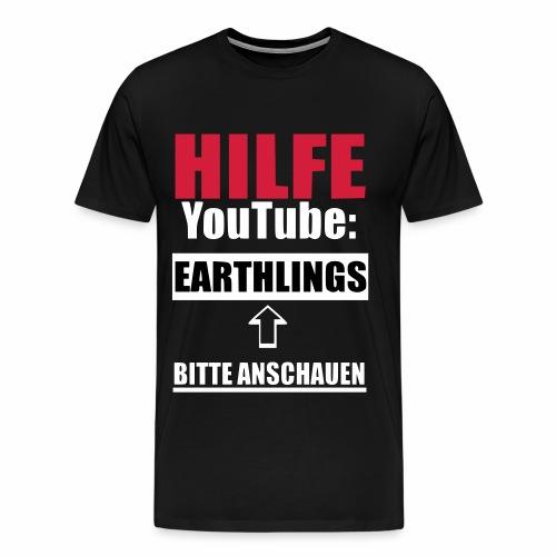 Vegan Earthlings Aktivismus - Männer Premium T-Shirt