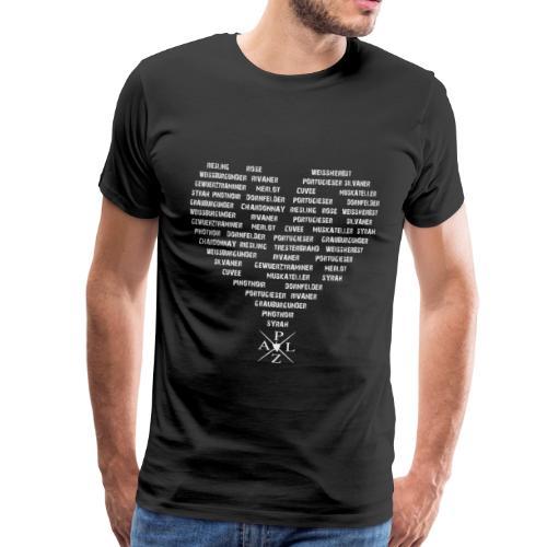 Weine Herzform - Grau - Männer Premium T-Shirt