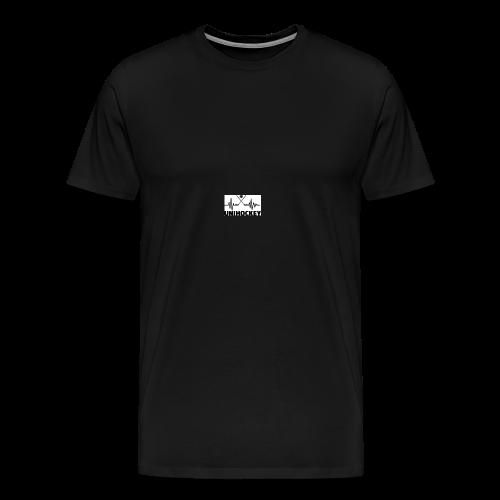 heartbeat pulse line two crossed floorball sticks - Männer Premium T-Shirt