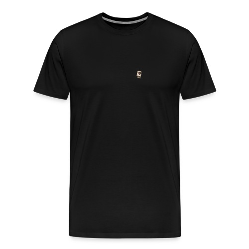 Mops-logo - Männer Premium T-Shirt