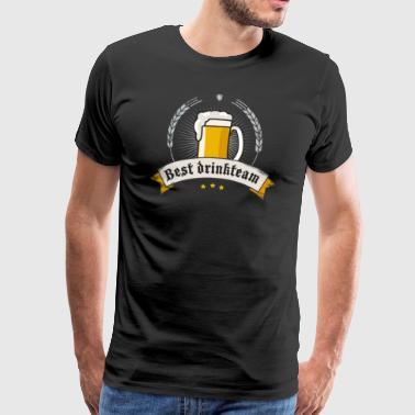 Drink Team Oktoberfest olutpuutarha olut kolpakko veneet - Miesten premium t-paita
